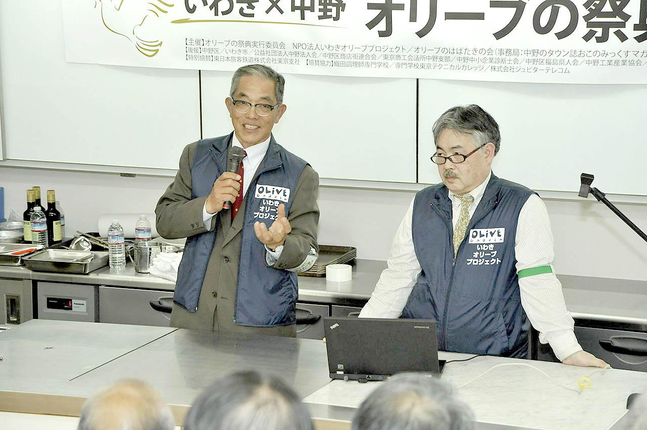 いわきオリーブPJ木田さん(左)・松﨑さん