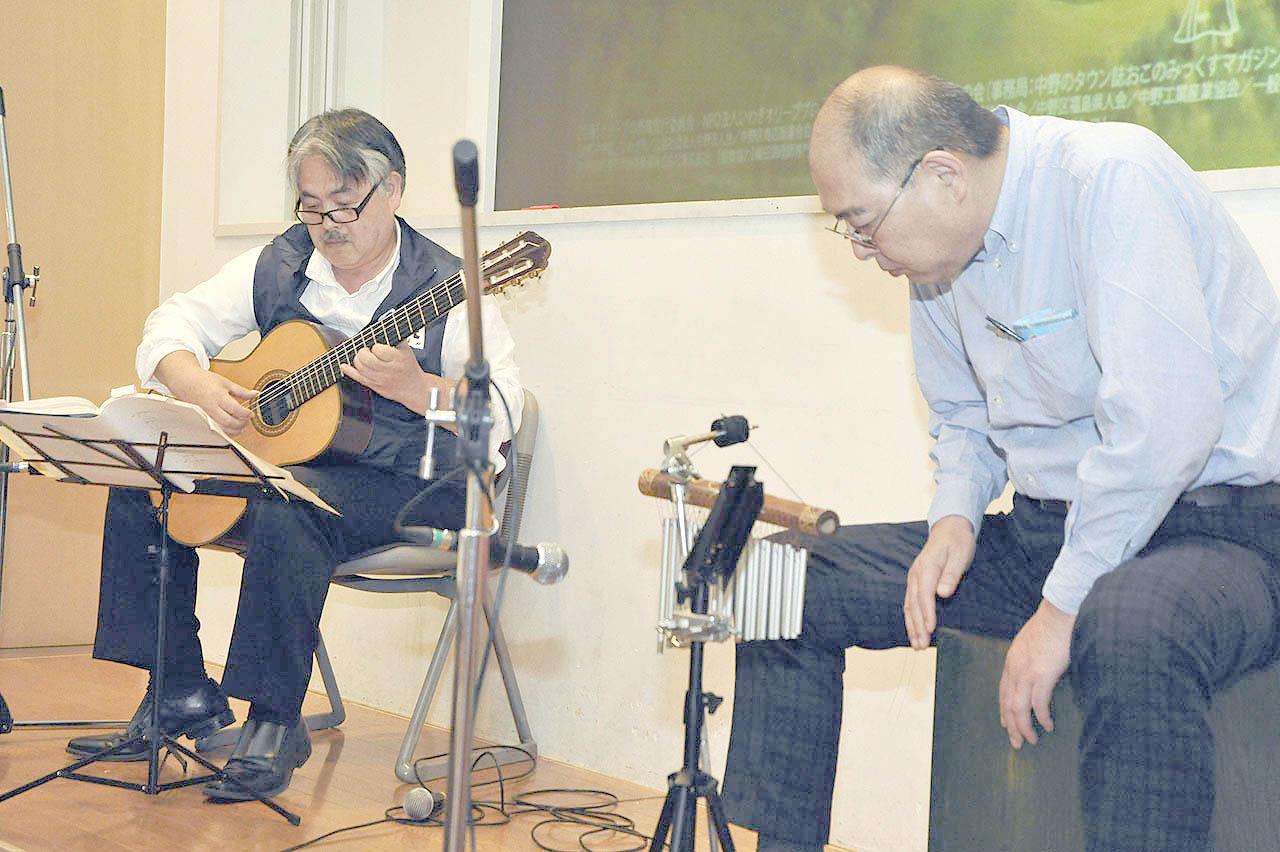 ギター松﨑さんとパーカッション関志路さん