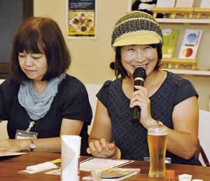 ▲(左から)飛山、壱寿司 女将・渡部さん